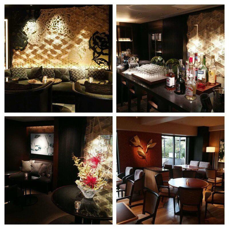 グランドプリンス新高輪 Club Loungeの席とバーカウンター