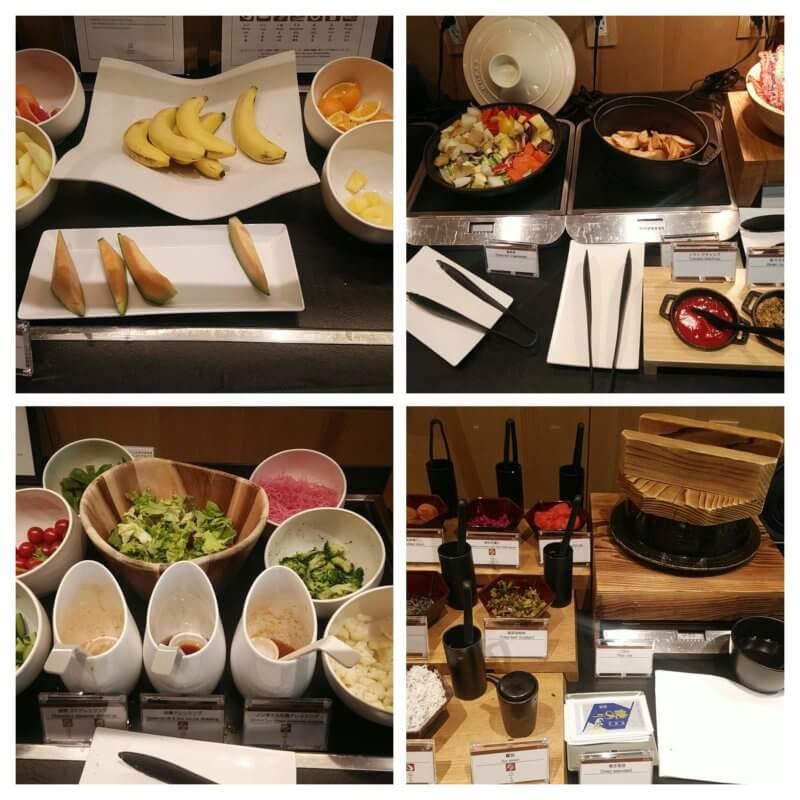 さくらタワー東京のクラブラウンジの朝食
