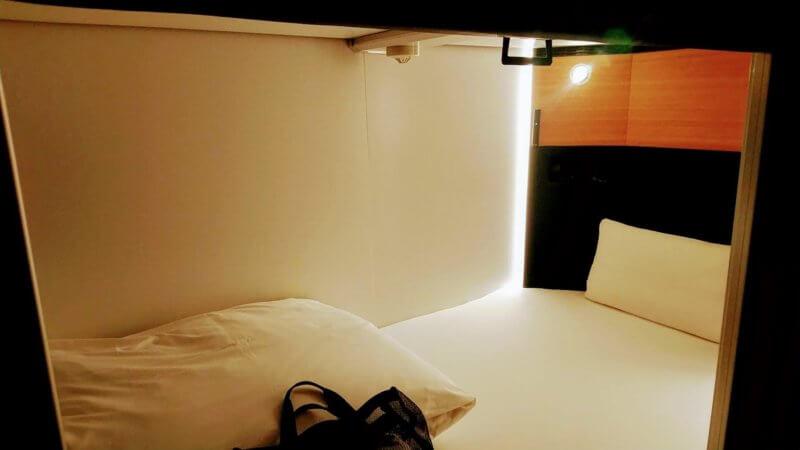 秘密基地の押入れベッドの様子